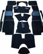 New Black Carpet Kit For Triumph Tr4a Tr6 1965-76 Factory Made In England Black