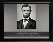 Abraham Lincoln Photo Picture, Poster Or Framed Quote Stand With Everybody