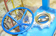 Velan 8 And039and039 Butterfly Valve Se12h06 With 18and039and039 Wheel B16.34.ap1609 B