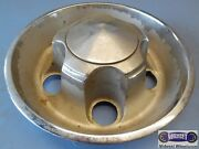 And03972-and03976-2 Mopar Used Metal Cap Plymouth Dodge Lt Grey Dish Type 7-3/4 D.