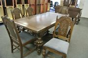 Antique 1920and039s Jacobean Style Dinning Room Set
