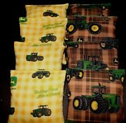 Greentractor Country With John Deere Fabric 8 Aca Regulation Corn Hole Game Bags