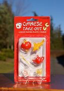 6 Hand Painted Chinese Take-out Food Plastic Charms Bracelet 2003 Accoutrements