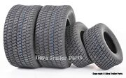 Set Of 4 New Lawn Mower Turf Tires 15x6-6 Front And 20x10-8 Rear /4pr -13016-13040