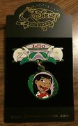Disney Auctions Hanging Charm Lilo Dangle Flowers Le 500 Pin New On Card Noc