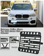 For 14-up Bmw F15 X5 No Pdc Front Tow Hook License Plate Mount Relocator Bracket