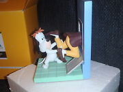 Extremely Rare Droopy And Tex Avery Escaping Demons And Merveilles Bookend Statue