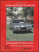 442 And Cutlass Body Parts Interchange Book 1964-1969 1970 1971 1972 Oldsmobile