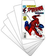 300 Comic Book Bin Index Divider Cards - Sloped 7x12 White Heavy Duty 40mil