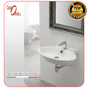 Lay-on Or Wall-mounted Washbasin With Hole For Tap Wish