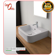 Lay-on Or Wall-mounted Washbasin With Tap Hole Next