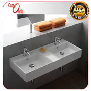 Lay-on Or Wall-mounted Washbasin With Separate Tanks Teorema