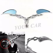 Tear Drop Flame Custom Chrome Motorcycle Rear Mirrors For Victory Hammer 8-ball