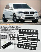 For 14-up Bmw F15 X5 W/ Pdc Front Tow Hook License Plate Mount Relocator Bracket
