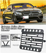For 15-up Benz C217 S550 4matic Coupe 2dr Front Tow Hook License Plate Bracket