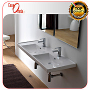 Built-in Or Wall-mounted Washbasin - Scarabeo Ml Double Basin