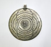 Traditional Design Sterling Silver Necklace Pendant Hindu Goddess Kali Jewelry