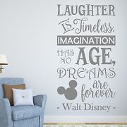 Laughter Is Timeless Walt Disney Quote Wall Sticker Decal Quote Vinyl Words