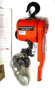 New Cm Puller 3/4 Ton 5and039 Lift 7337p Load Limiter And Crosby Golden Gate Hook Usa