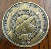 Challenge Coin Ordnance Corps Usa Chief Of Ordnance Serving The Line Excellence