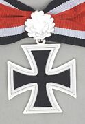 German Army Knights Cross Of The Iron Cross With Oakleaves 1957 Issue And Ribbon