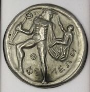 Rare Coin Of Pheneus 2 Drn Hermes Silver C 390 B.c Made In Greece 184.4 Grams