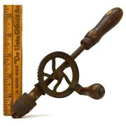 Antique Hand Crank Egg Beater Drill Unusual 8.75 Small Unbranded Superb Patina