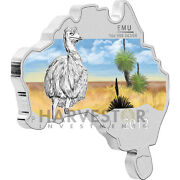 2012 Australian Map Shaped Coin - Emu - Silver Proof - Only 6000 - W/ Ogp And Coa