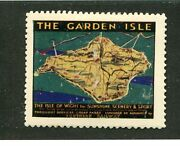 Vintage Poster Stamp Label Southern Railway Garden Isle Isle Of Wight Railroad