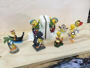 Extremely Rare Looney Tunes Tweety And Baby Taz Collection Figurine Statues Boxed