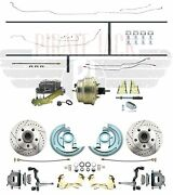 Front Power Disc Brake Conversion W/ Full Front To Rear Original Steel Line Set