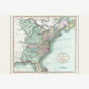 Map Of United States East Of The Mississippi Antique Map By Cary, 1806