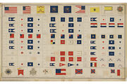 Flags Of The American Civil War Archival Reproduction Of Antique Poster
