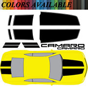 Chevy Camaro Rally Racing Stripes Vinyl Decals For 2010-13 Rs Ss Hood+trunk