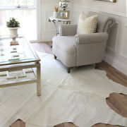 Solid Cream Cowhide Rug   High Quality Cow Rugs From Brazil
