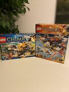 Lego Legends Of Chima Lennoxand039 Lion Attack 70002 And Eriandrsquos Fire Eagle Flyer 70142
