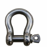 1 1/4andrdquo Us Type Bow Shackle 1 3/8 Pin 316 Stainless Steel Boat Marine 17600 Lb