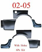 02 05 Ford Explorer W/ Holes 6pc Dog Leg Arch And Lower Quarter Kit Patch Rear
