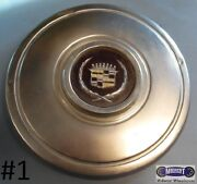 And03980-and03982 Cadillac Used Cap Machined Maroon Center Chrome Logo 11 Dia. 1222
