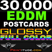 30000 Postcards 4.25x11 Full Color Glossy Customized Postcard Printing +design