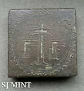 Ancient Square Byzantine Comercial Weight 400-600 Ad -extra Rare 80.8 Grams