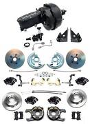 1964-1972 Chevelle A Body Wilwood Front Rear Disc Brake Kit 9 Dual Booster Kit