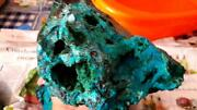 2950 Grams Aaa Blue Chrysocolla Turquoise Geode Drusy Rough High Grade Peru