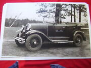 1931 Ford Model A Touring Usaw Staff Car 11 X 17 Photo / Picture