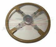 New Quality Reproduction Of Brooklands Steering Wheel For Mg Td Tf Gold Pearl