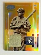 2003 Rare Leaf Certified Mirror Gold Babe Ruth Game Worn Pants No Number Rare