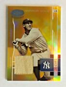 2003 Rare Leaf Certified Mirror Gold Lou Gehrig Game Worn Pants No Number Rare