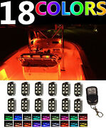 Led Boat Interior Marine Deck Lights Full Color Changing Neon Accent 12 Pod Kit