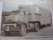1955 Ford Allied Van Lines Moving Truck 11 X 17 Photo / Picture