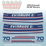 1974 Evinrude 70 Hp Hustler Outboard Reproduction 12 Pc Vinyl Decals Two Stroke